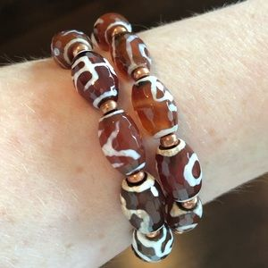 Jewelry - Tibetan Gemstone Beaded Bracelet Set